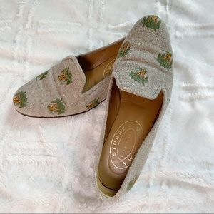 Stubbs & Wootton Palm Loafers All Over Embroidery